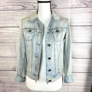 Mossimo Distressed Light Wash Jean Jacket